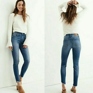 """Madewell 10"""" High-rise Skinny jeans tulip ankle"""